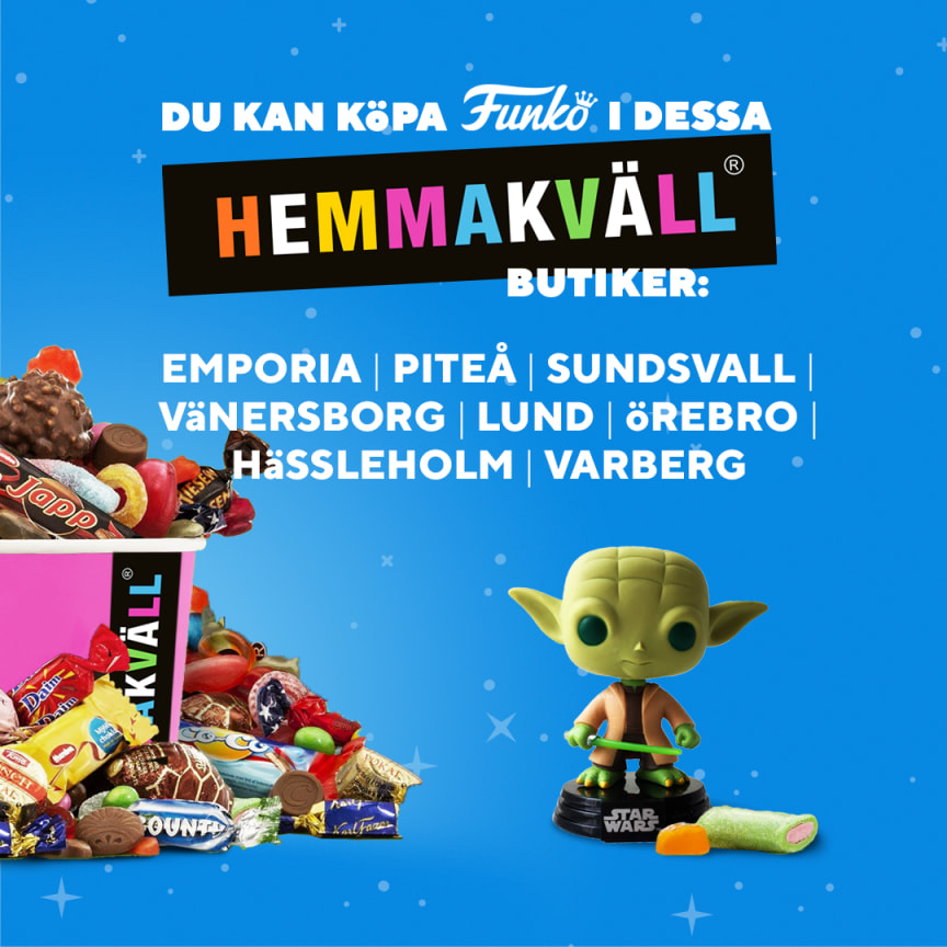 FUNKO till åtta utvalda Hemmakväll butiker under vecka 30 2019