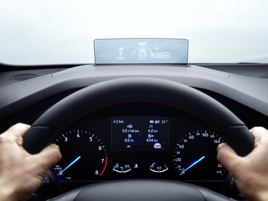 Ny Ford Focus ST-Line Heads-Up Display