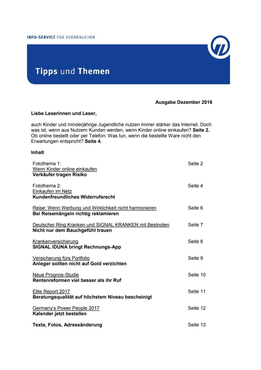 Tipps und Themen 12-2016