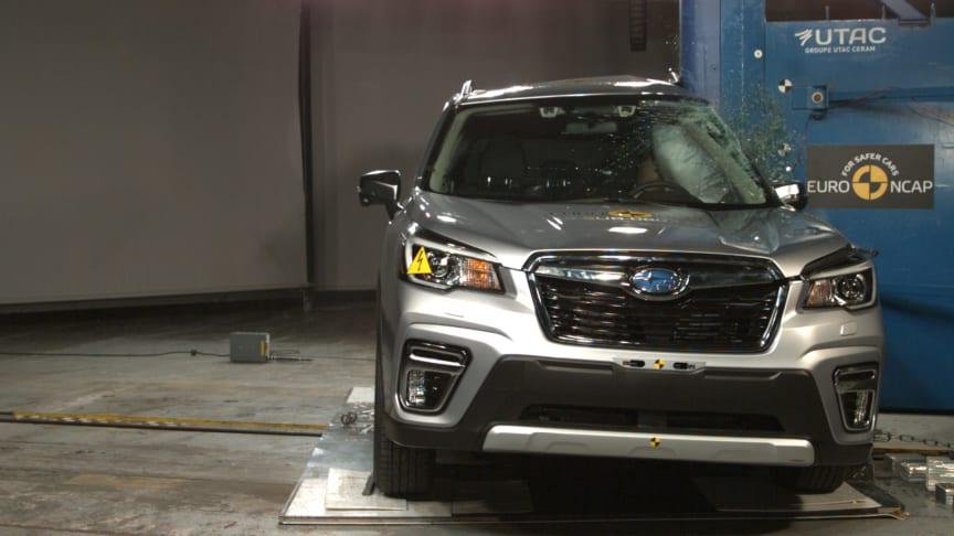 Subaru Forester pole impact test Dec 2019