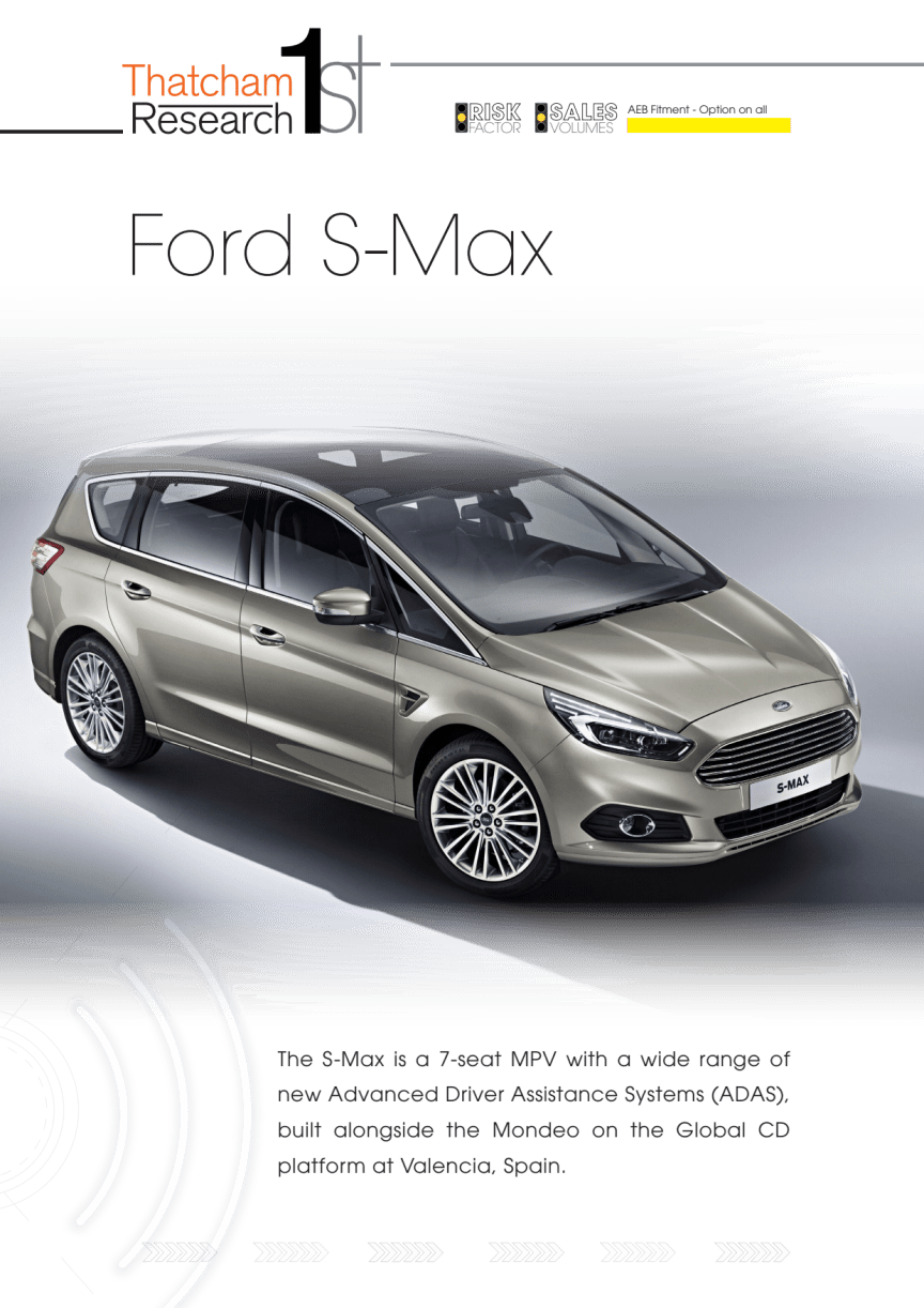 Thatcham 1st : Ford S-Max