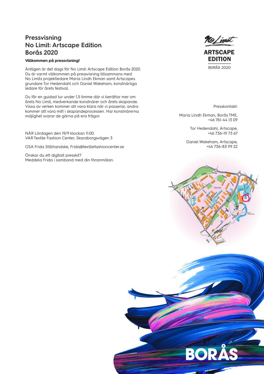 Pressvisning No Limit: Artscape Edition Borås 2020