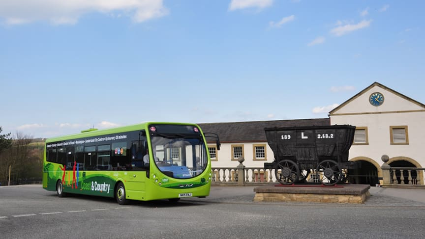 Go North East bus at Beamish Museum