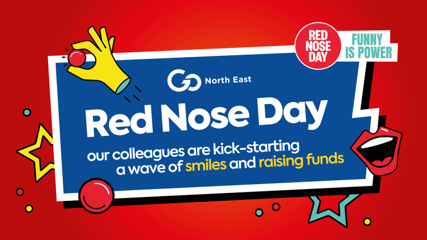 Go North East kick-starts a wave of smiles and raises funds for Red Nose Day
