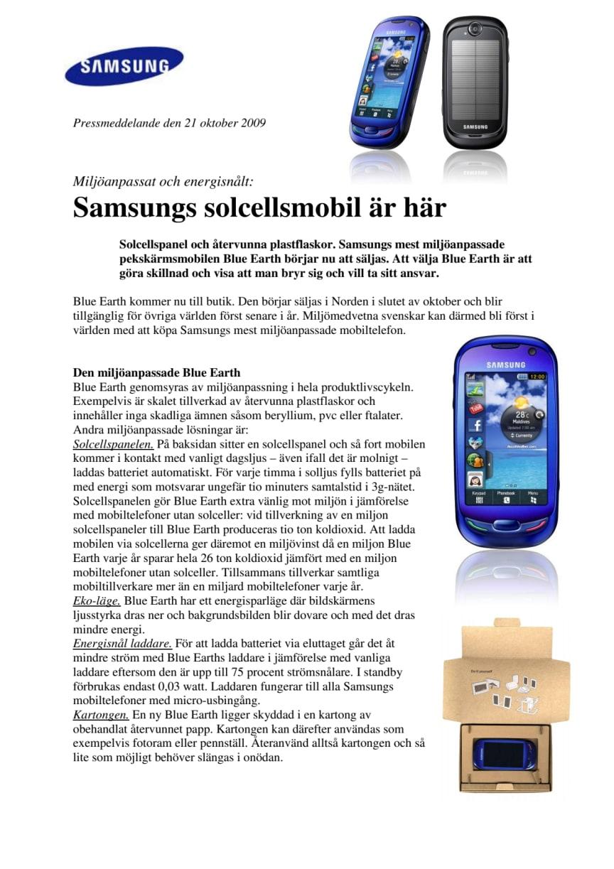 Samsungs solcellsmobil är här