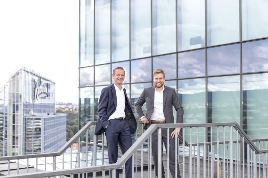 LANSERER SIGNATURAPP. (f.v.) Mads Myrvoll og Erik Kyllingstad i Sopra Steria
