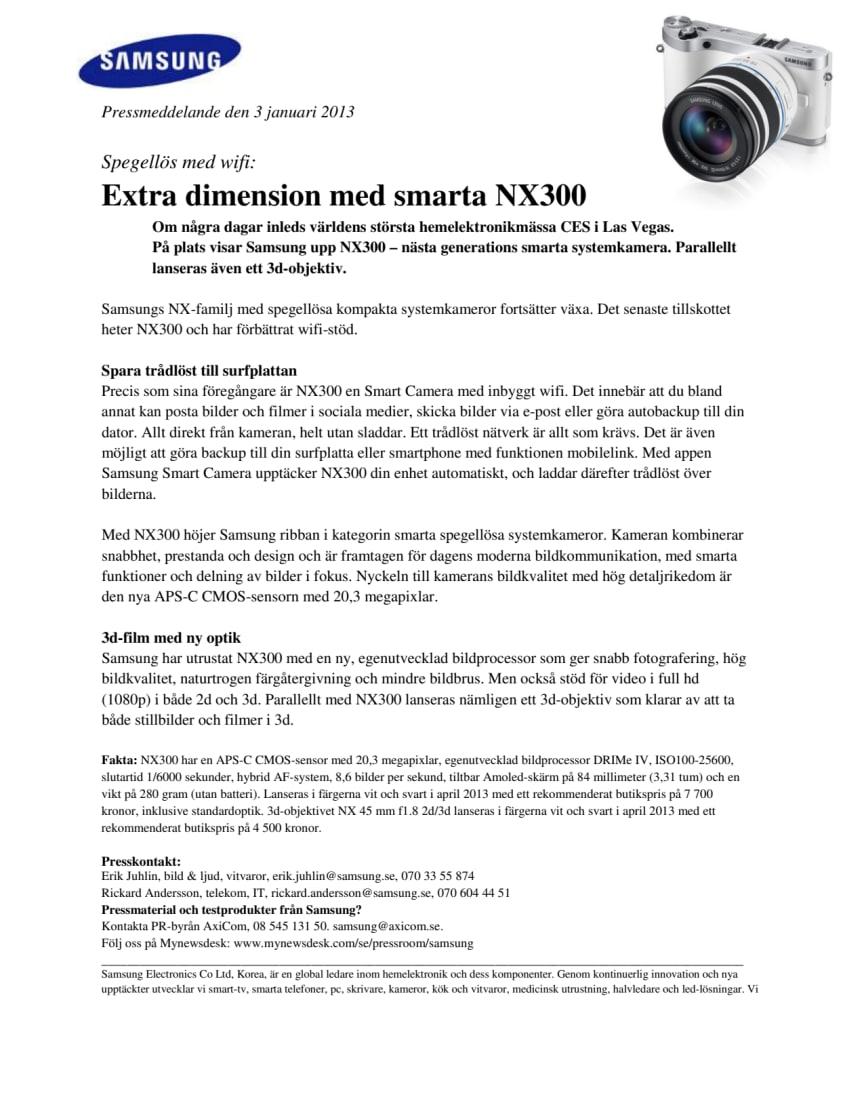 Spegellös med wifi: Extra dimension med smarta NX300