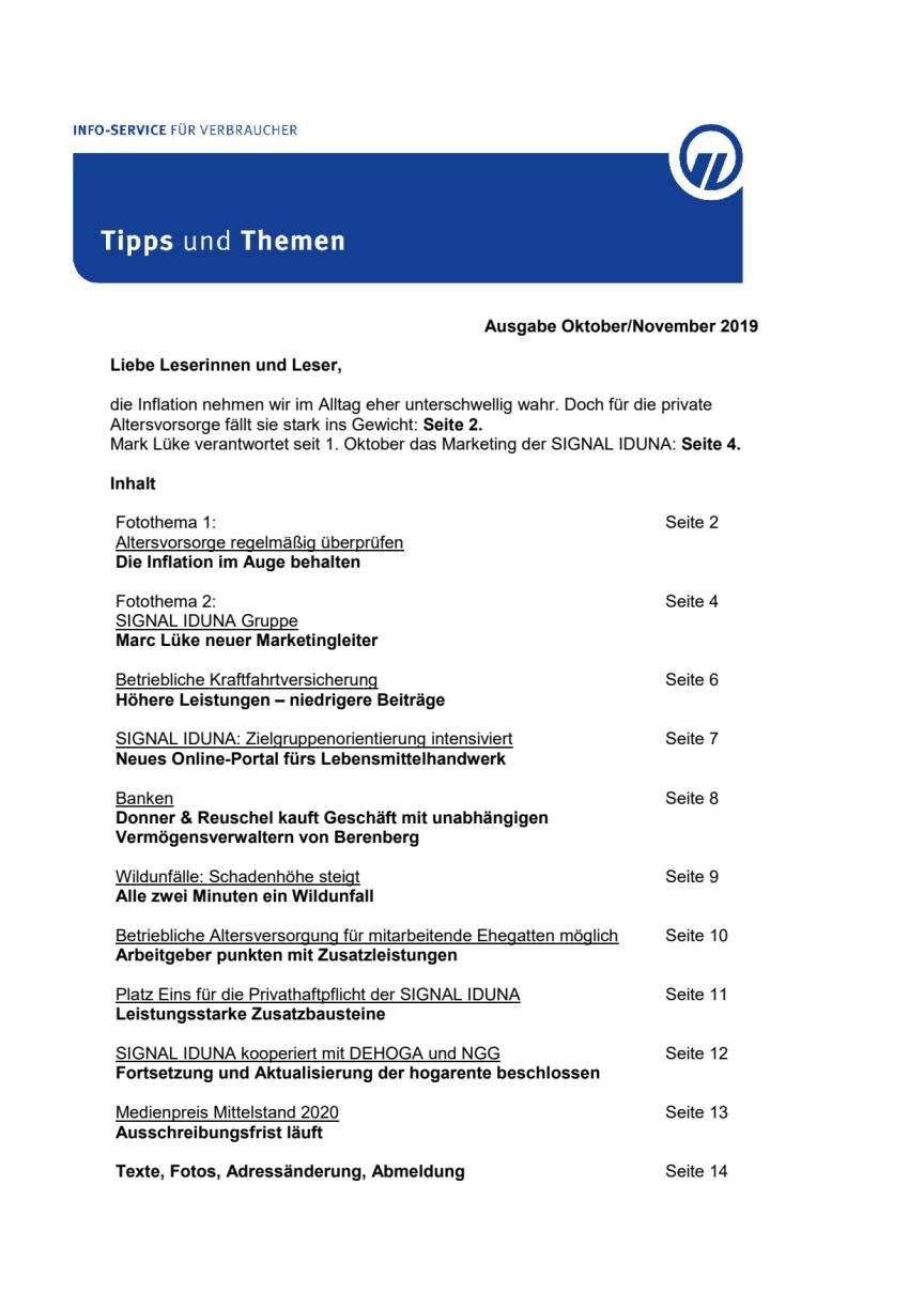 Tipps und Themen 10/11-2019