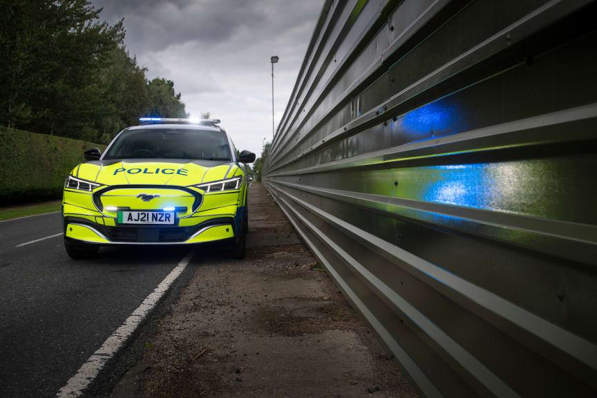 Ford Mustang Mach-E politibilkonsept Ford Mustang Mach-E police car at Safeguard SVP 2021