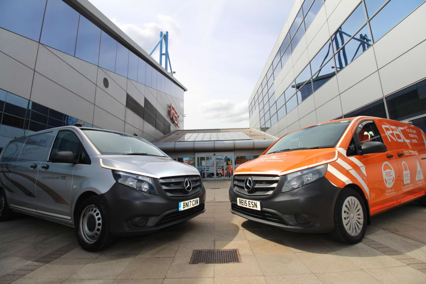 RAC and Mercedes-Benz branded technician vans