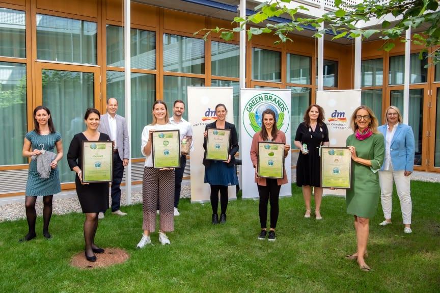 GREEN BRANDS: Auszeichnungen für vier dm-Marken und das Unternehmen dm-drogerie markt 2021/22