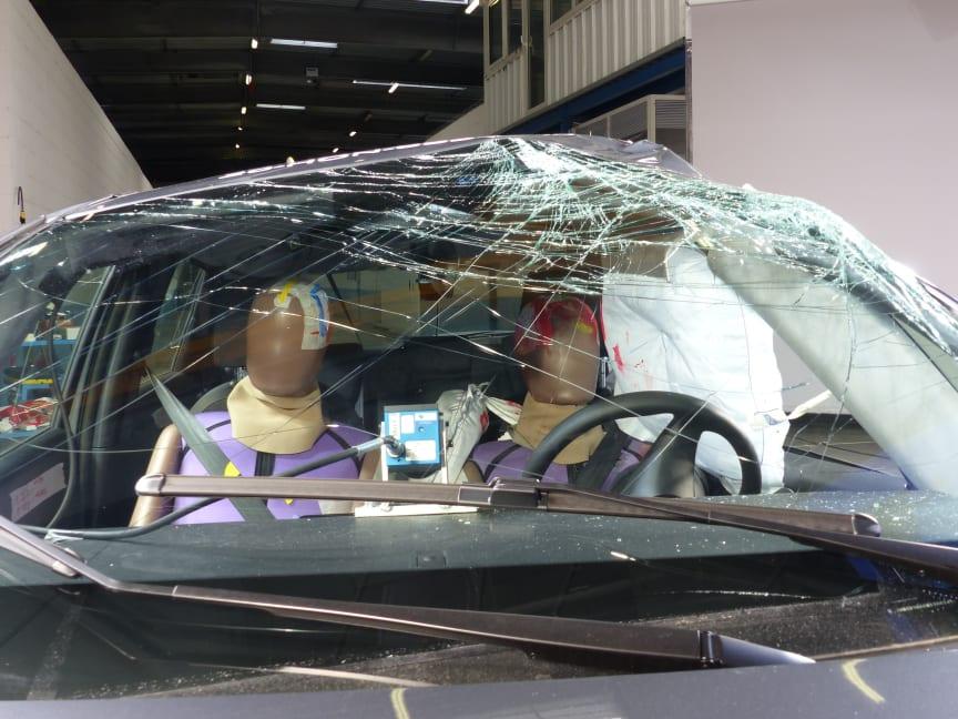 Honda Jazz - Far-Side impact test 2020 - after crash