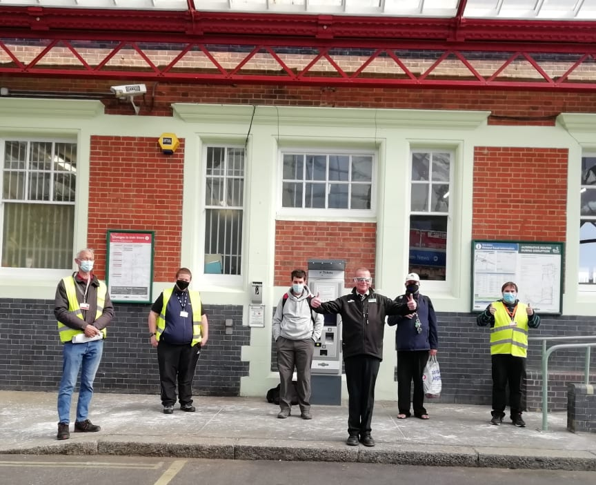 Welcome back activity at Hove station