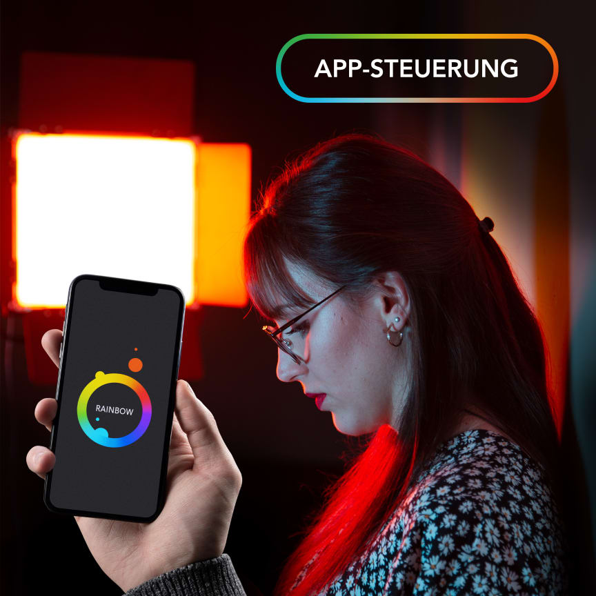 Walimex pro Rainbow RGBWW 50_100W 23034 23035 15 App