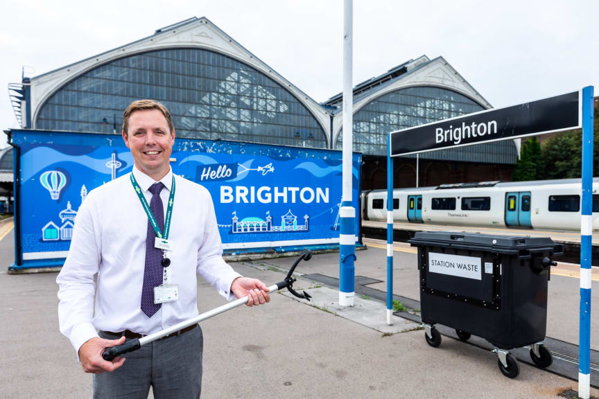 Recycling boost for Brighton station