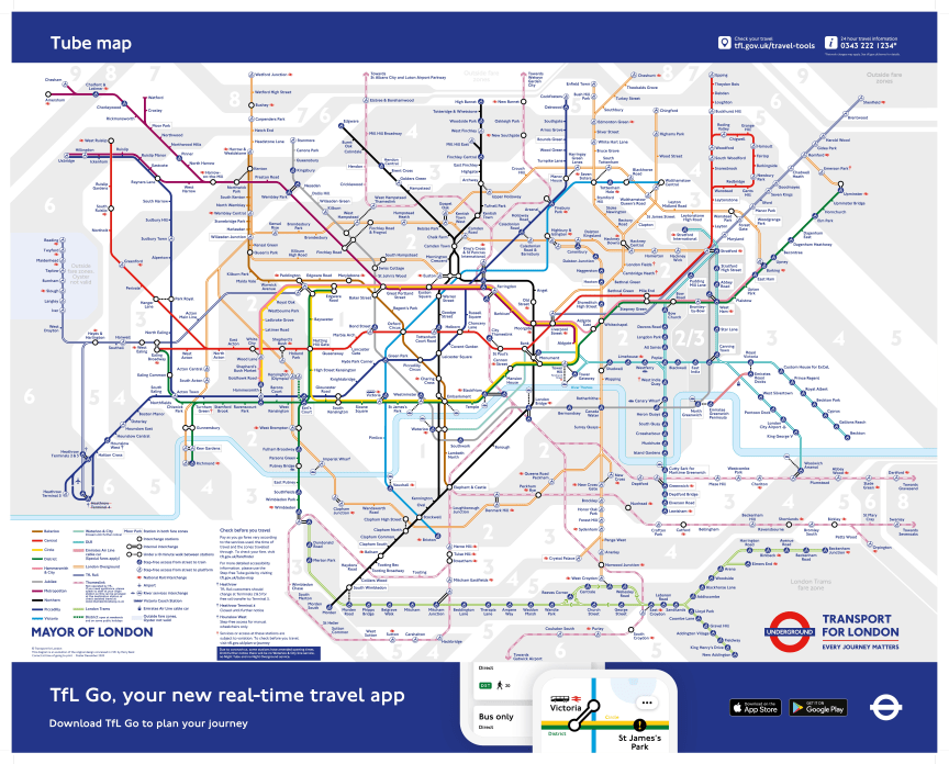The new temporary Tube map shows Thameslink stations
