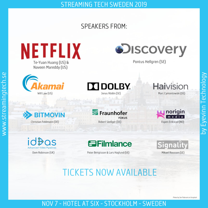 Talare på Streaming Tech Sweden 2019