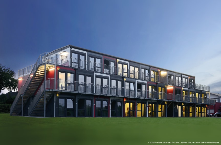 Algeco_Snooze Campus Koblenz  by Night