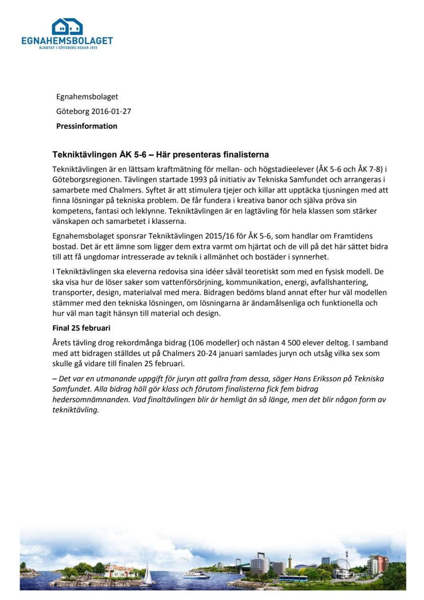 Tekniktävlingen ÅK 5-6 – Här presenteras finalisterna