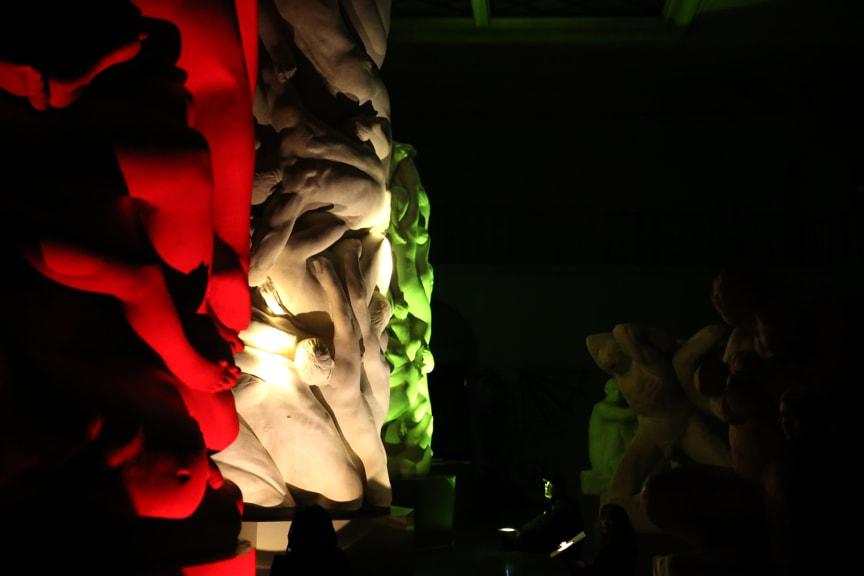 Guerilla Lighting Høyskolen Kristiania / Vigelandjubileet