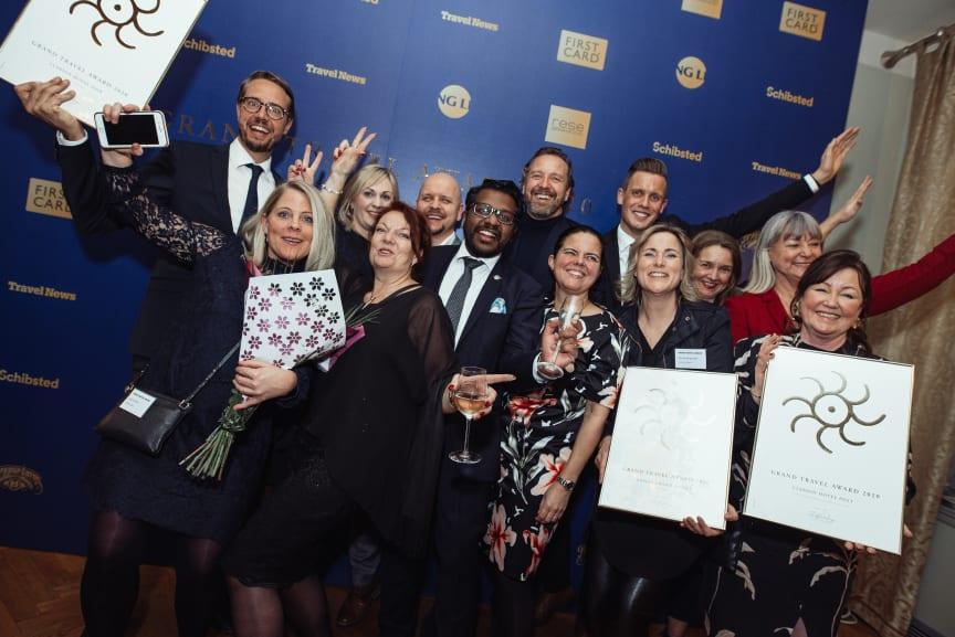 Glädjande besked när Nordic Choice Hotels och Clarion Hotel kammade hem tre priser