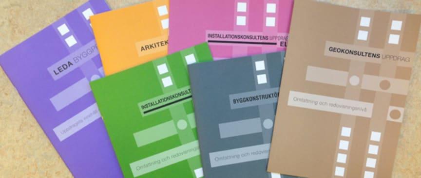 Serie av uppdragsbeskrivningar vid arkitekt- och konsulttjänster