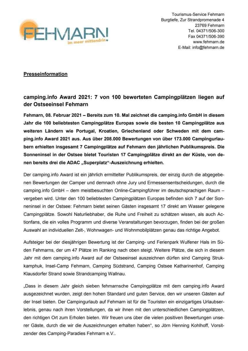 Tourismus-Service Fehmarn_camping.info Award 2021.pdf