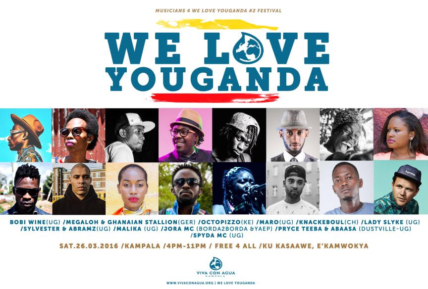 WE LOVE YOUGANDA: Ein Festivalfeuerwerk u.a. mit Abramz & Sylvester, Bobi Wine, Lady Slyke, Megaloh, Octopizzo!