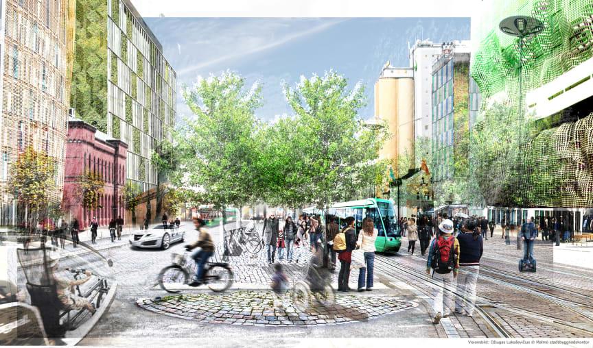 Visionsbild framtagen till Malmös nya översiktsplan (ÖP2012)