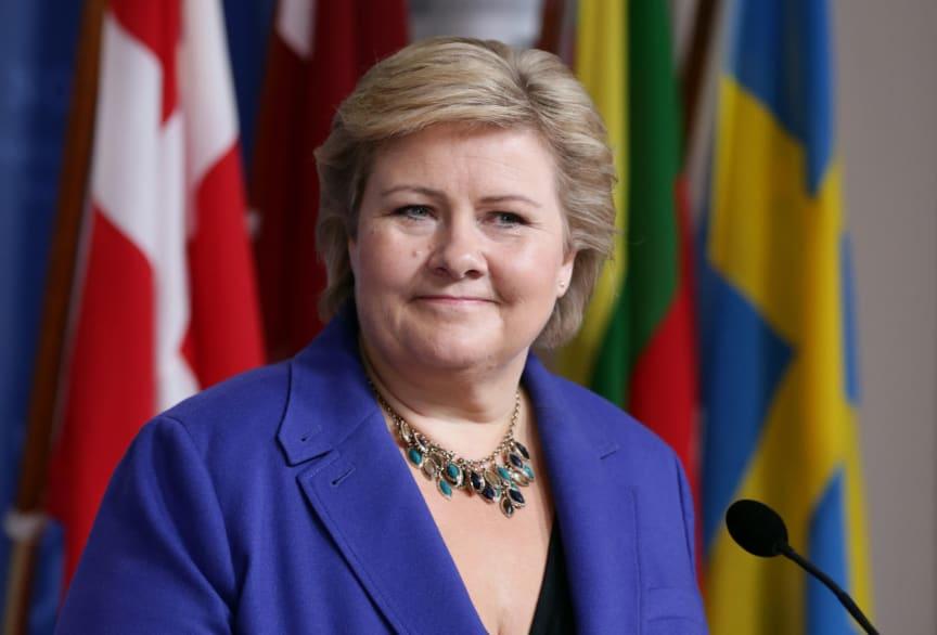 Erna Solberg står for den offisielle åpningen av Pride Park