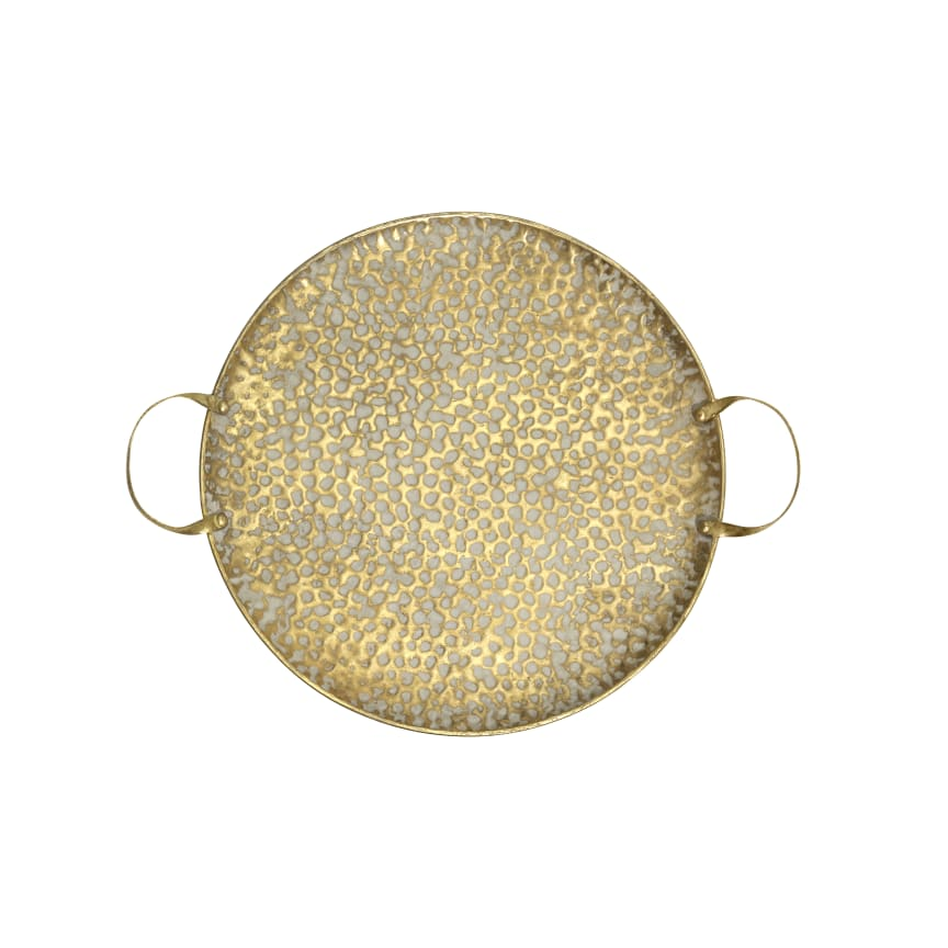 Guldfärgad bricka