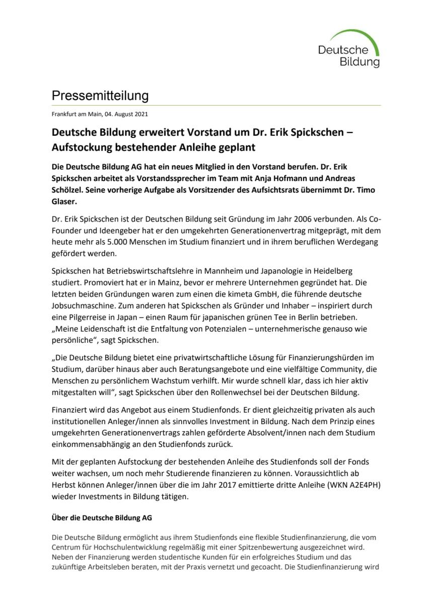 Pressemitteilung_Erik_Spickschen_Vorstand_Anleihe_final_210804.pdf