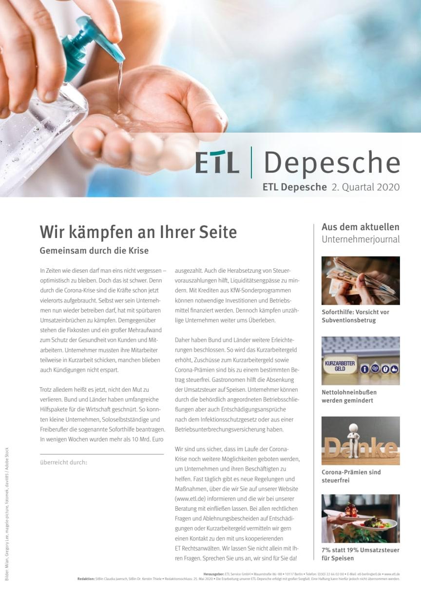 ETL-Depesche II. Quartal 2020