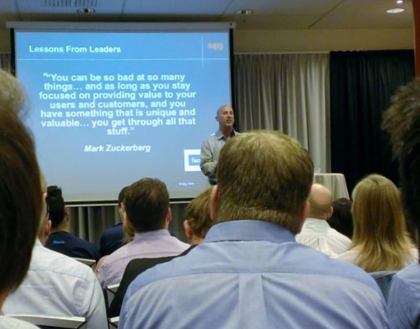 Inspirational seminar by Marty Cagan