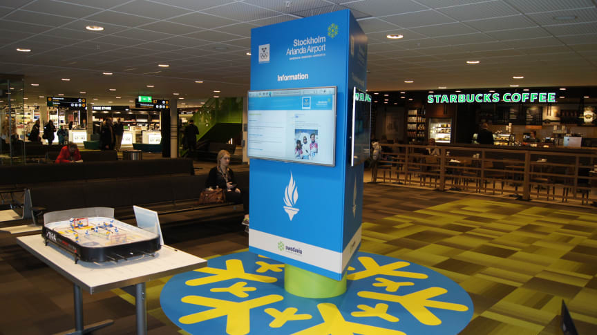 OS-pelare på Swedavias flygplatser