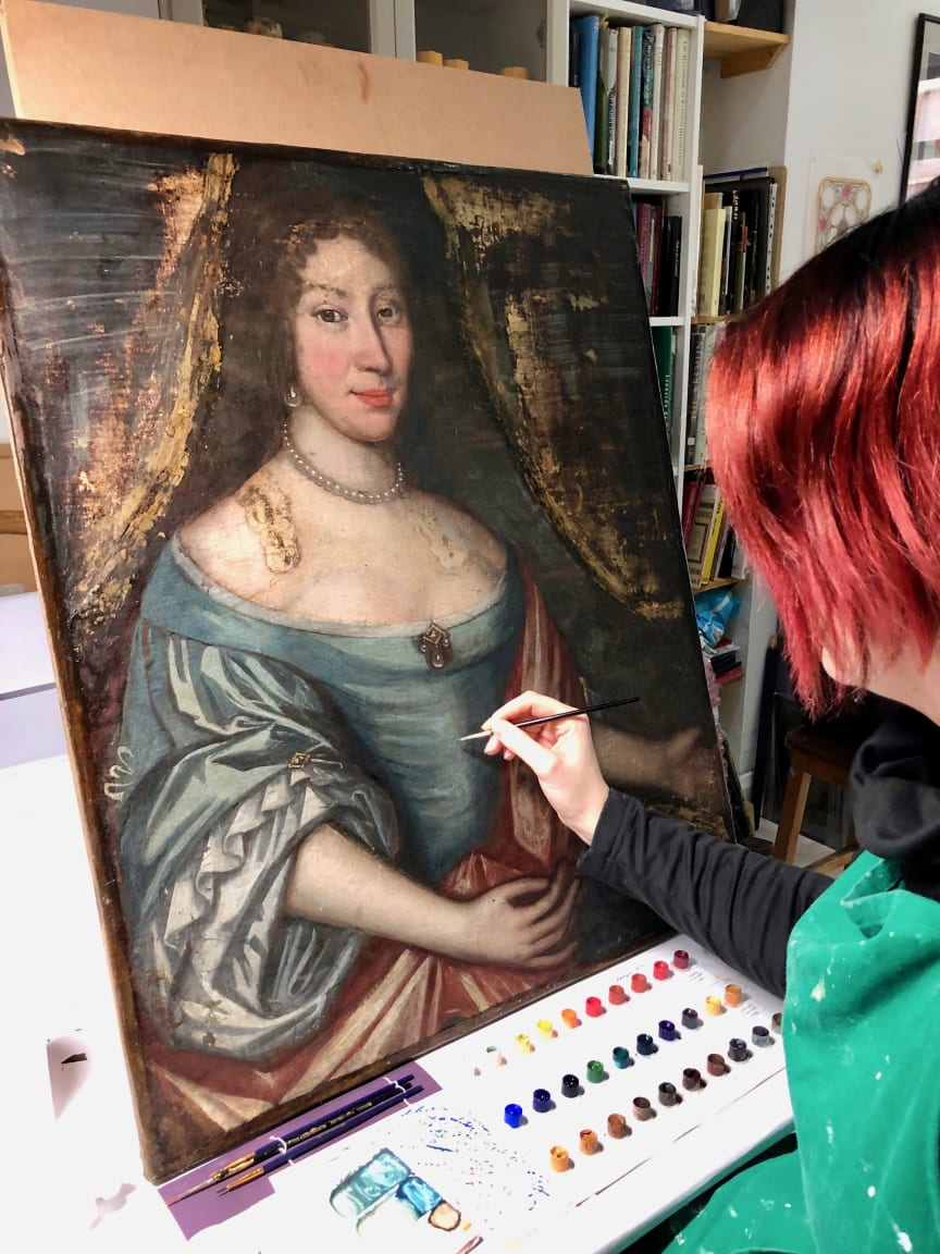 Conservation work being undertaken on Lady Lettice