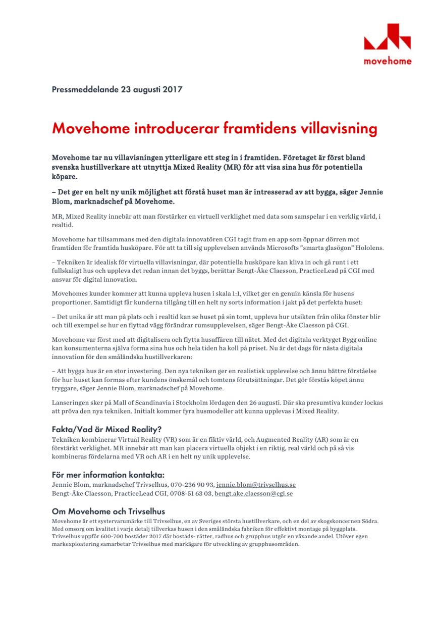 Movehome introducerar framtidens villavisning