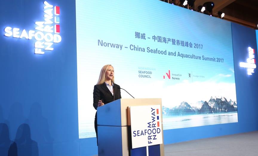 Renate Larsen på Norway - China Summit 2017
