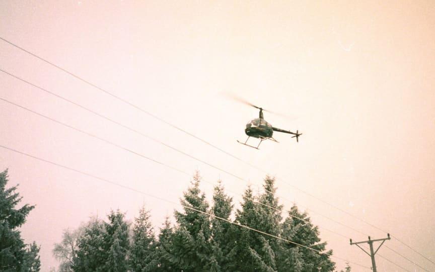 Ledningsbesiktning från helikopter