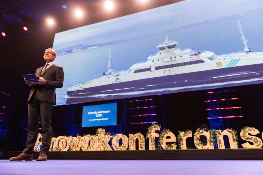 Nils Kristian Nakstad på Enovakonferansen 2019