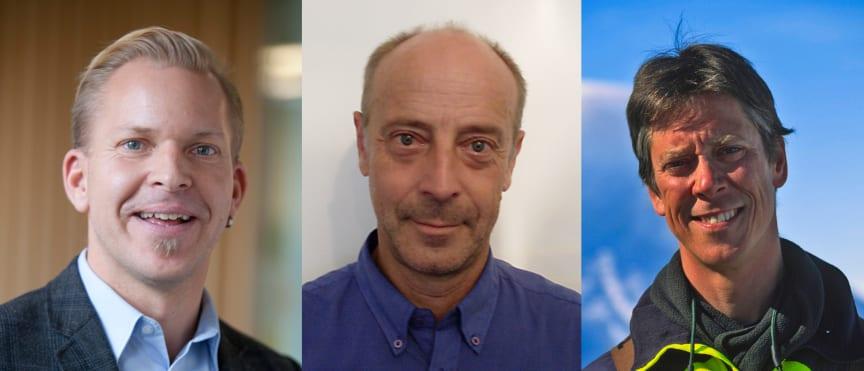 Niklas Svensson, Göran Cars och Anders Modig talar på Ecoforum