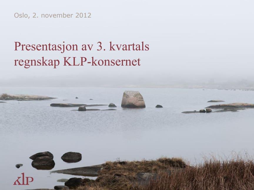 Presentasjon Q3/2012