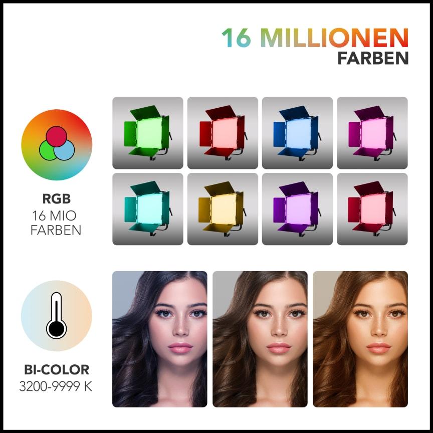 Walimex pro Rainbow RGBWW 50_100W 23034 23035 19 Farben
