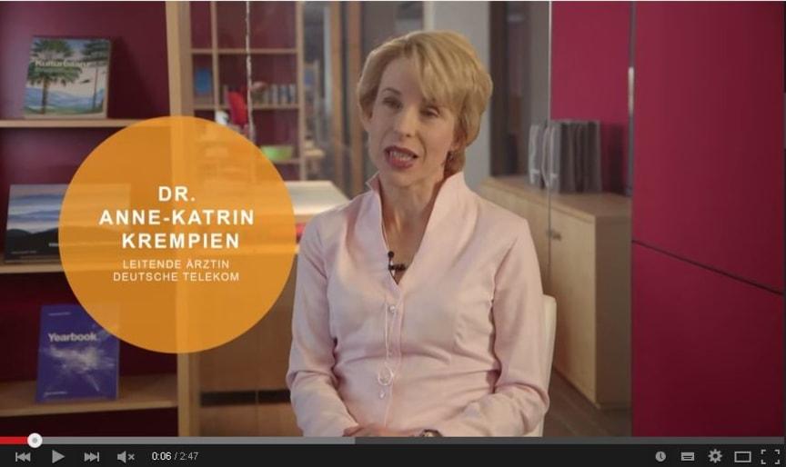 Screenshot: Video zum Handlungsleitfaden betriebliche Darmkrebsvorsorge der Felix Burda Stiftung