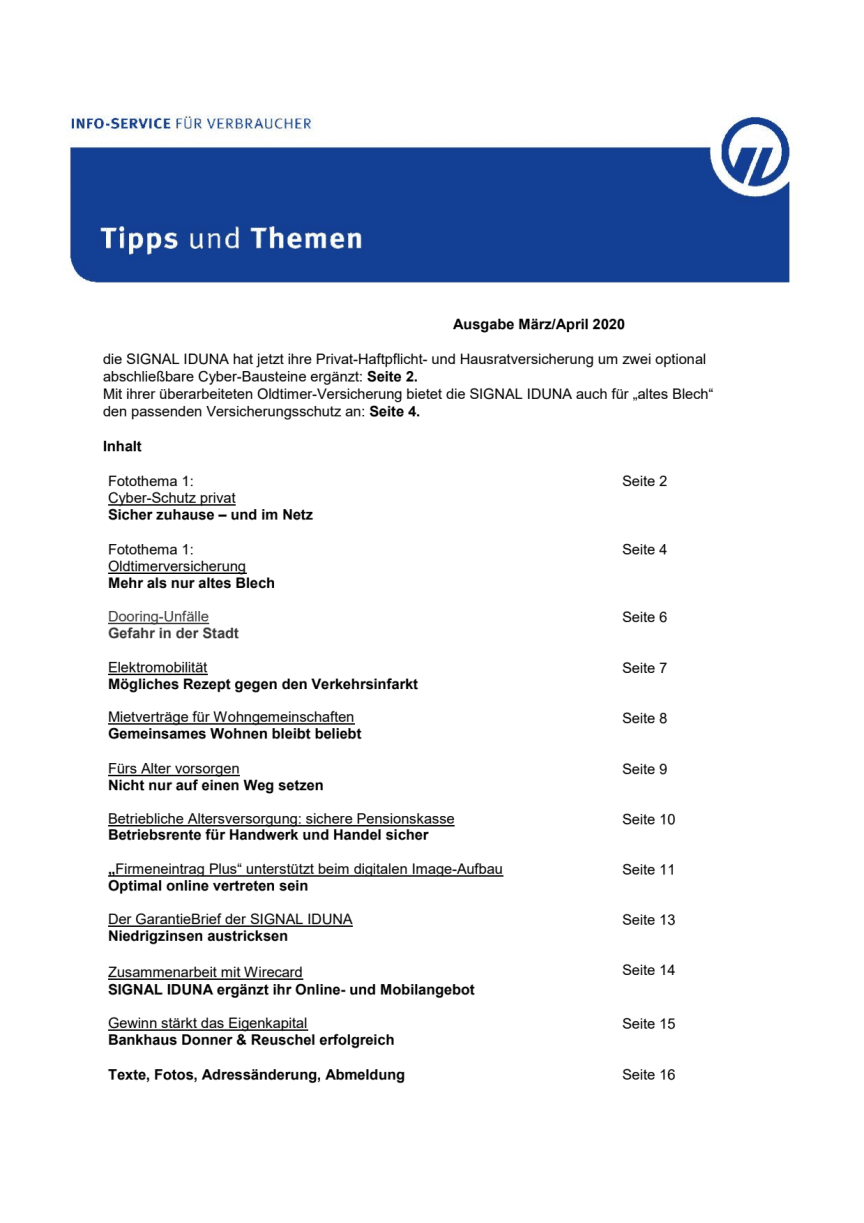 Tipps und Themen 3,4-2020