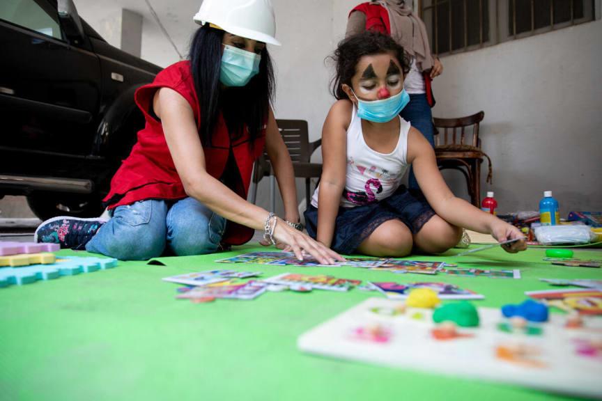 Sonia, 8 år i Beirut