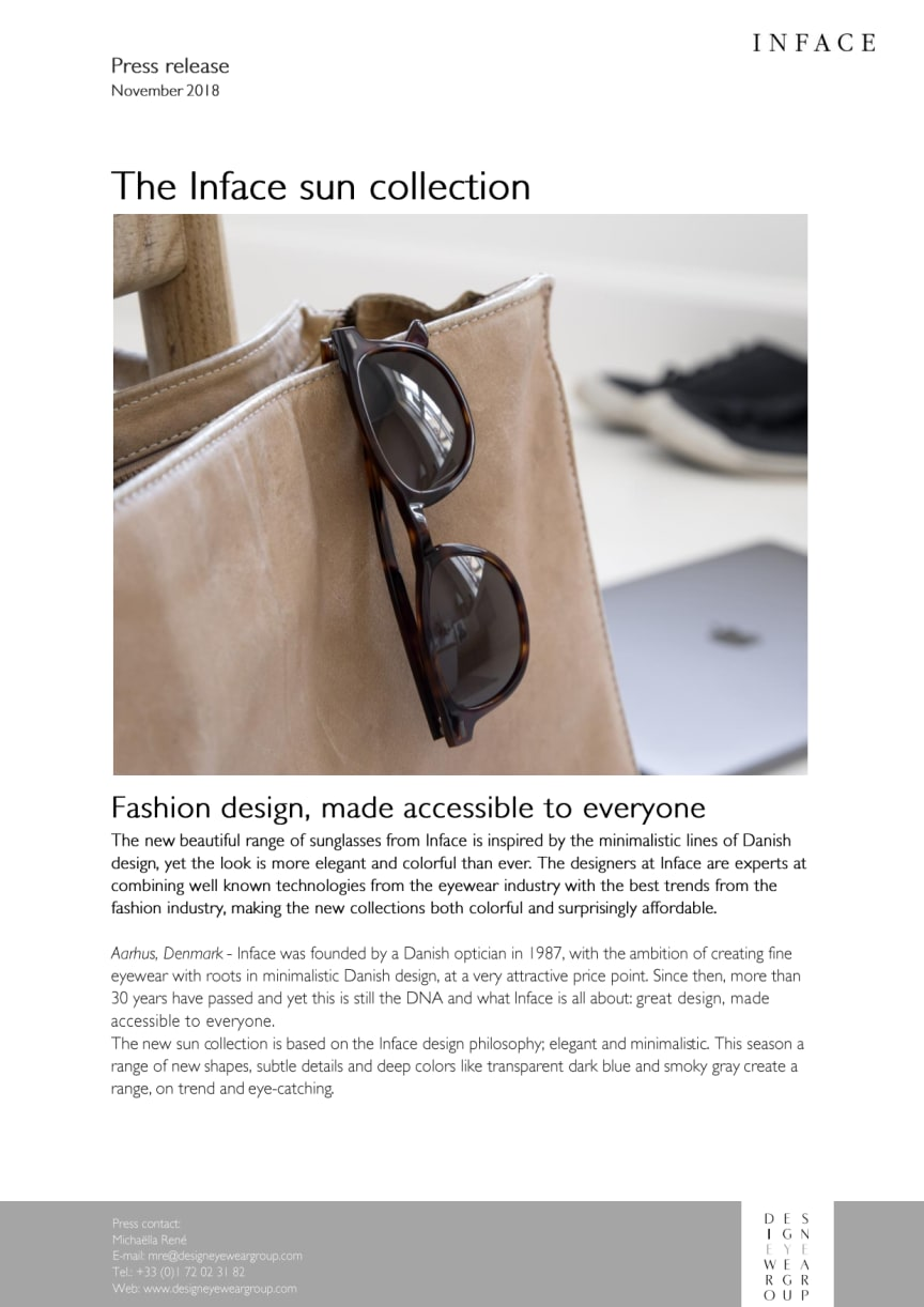 The Inface sun collection