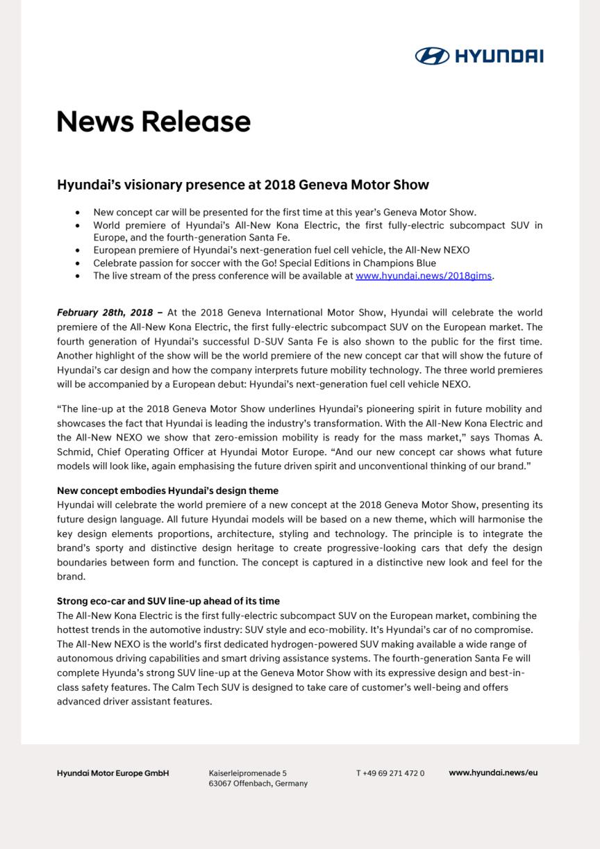 Geneve 2018: Elektrisk mobilitet fra Hyundai