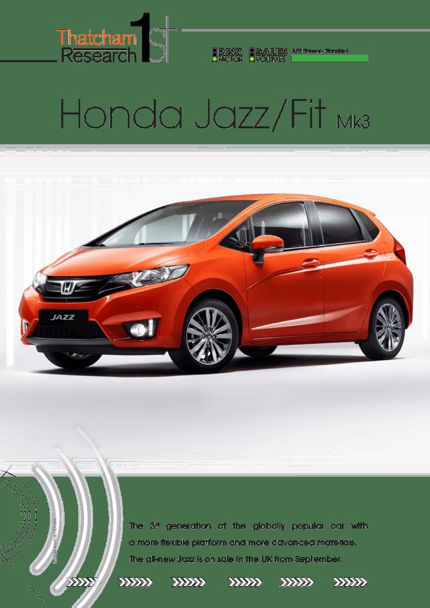 Thatcham 1st : Honda Jazz