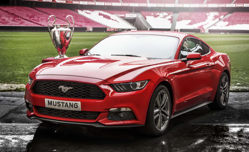 Nye Ford Mustang under Champions League-finalen i Lisboa